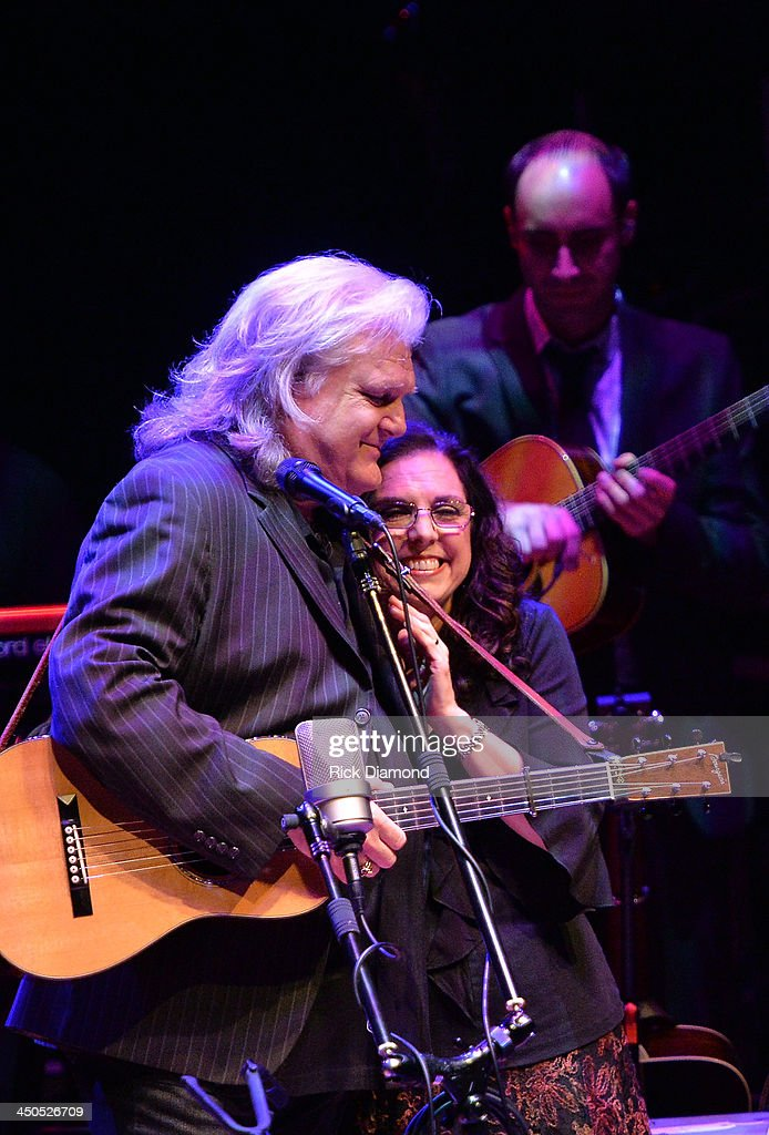 Singer/Songwriter <a gi-track='captionPersonalityLinkClicked' href=/galleries/search?phrase=Ricky+Skaggs&family=editorial&specificpeople=2134089 ng-click='$event.stopPropagation()'>Ricky Skaggs</a> and Singer/Songwrite/wife Sharon White of The Whites along with Ricky's band Kentucky Thunder perform at CMA Theater on November 18, 2013 in Nashville, Tennessee. Skaggs was recently announced as the Country Music Hall of Fame and Museum's 2013 Artist-in-Residence.