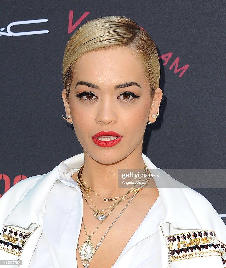 Singer/songwriter <a gi-track='captionPersonalityLinkClicked' href=/galleries/search?phrase=Rita+Ora&family=editorial&specificpeople=5686485 ng-click='$event.stopPropagation()'>Rita Ora</a> arrives at the Roc Nation Pre-Grammy brunch presented by MAC Viva Glam at a private residency on January 25, 2014 in Los Angeles, California.