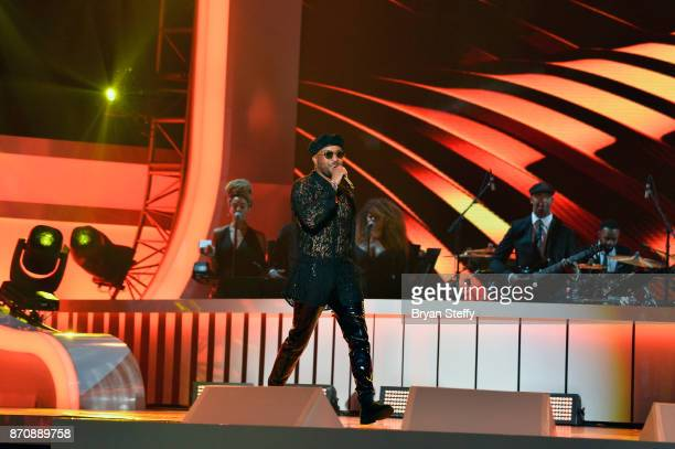 Singer/songwriter Ro James performs during the 2017 Soul Train Music Awards at the Orleans Arena on November 5 2017 in Las Vegas Nevada