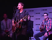 Singersongwriter Rob Thomas with singersongwriter Brian McKnight and songwriter Kevin Kadish performs onstage during the 2016 ASCAP 'I Create Music'...