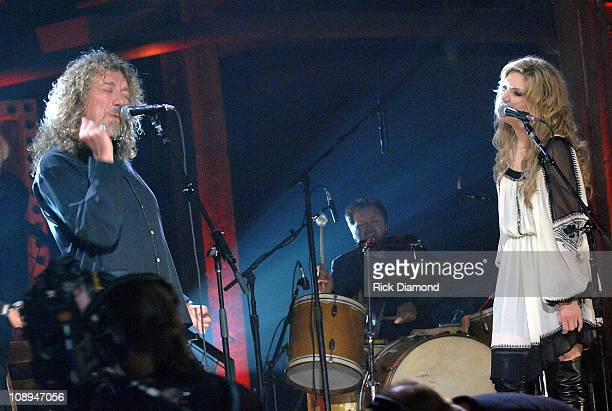 Singer/Songwriter Robert Plant and Singer/Songwriter Alison Krauss at the taping of there CMT Crossroads ROBERT PLANT AND ALISON KRAUSS premieres...