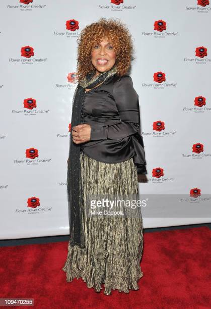Singer/songwriter Roberta Flack attends the George Harrison Concert at the New York Society for Ethical Culture Concert Hall on February 26 2011 in...