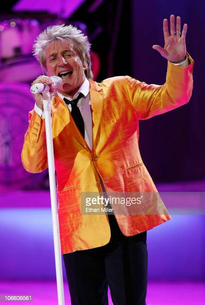 Singer/songwriter Rod Stewart performs at The Colosseum at Caesars Palace November 6 2010 in Las Vegas Nevada Stewart who released the album 'Fly Me...