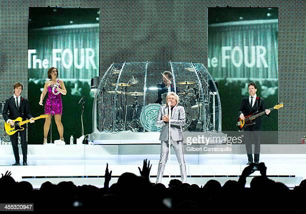 Singersongwriter Rod Stewart performs during 'Live the Life' tour at Wells Fargo Center on December 11 2013 in Philadelphia Pennsylvania