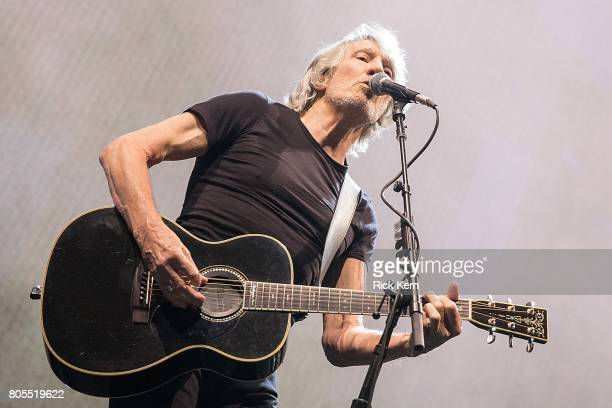 Singersongwriter Roger Waters of Pink Floyd performs in concert during the 'Us Them' tour at the ATT Center on July 1 2017 in San Antonio Texas