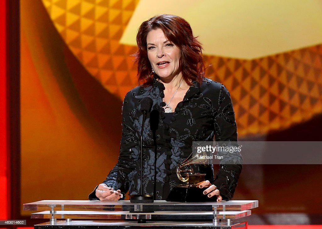 Singer/songwriter <a gi-track='captionPersonalityLinkClicked' href=/galleries/search?phrase=Rosanne+Cash&family=editorial&specificpeople=243014 ng-click='$event.stopPropagation()'>Rosanne Cash</a> speaks onstage during The 57th Annual GRAMMY Awards premiere ceremony at STAPLES Center on February 8, 2015 in Los Angeles, California.
