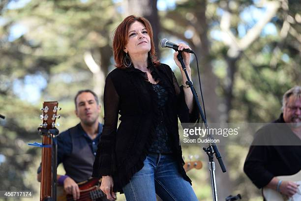 Singer/songwriter Roseanne Cash performs on stage at the Hardly Strictly Bluegrass festival at Golden Gate Park on October 5 2014 in San Francisco...