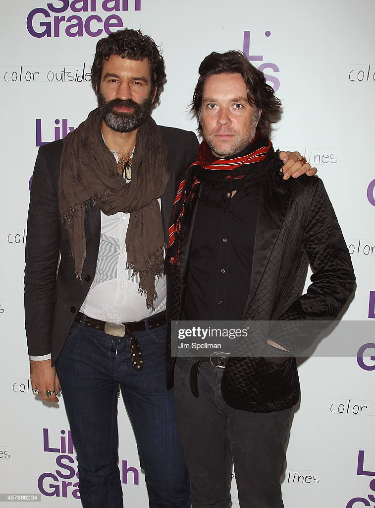 Singer/songwriter <a gi-track='captionPersonalityLinkClicked' href=/galleries/search?phrase=Rufus+Wainwright&family=editorial&specificpeople=206122 ng-click='$event.stopPropagation()'>Rufus Wainwright</a> (R) and husband arts administrator Jorn Weisbrodt attend the LilySarahGrace Presents: Color Outside The Lines at Jack Studios on October 25, 2014 in New York City.
