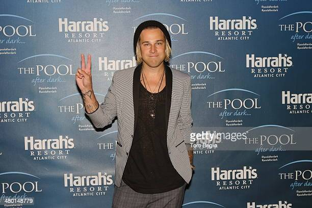 Singersongwriter Ryan Cabrera hosts and guest deejays at The Pool After Dark at Harrah's Resort on March 22 2014 in Atlantic City New Jersey