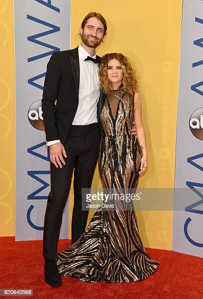 Singersongwriter Ryan Hurd and Maren Morris attend the 50th annual CMA Awards at the Bridgestone Arena on November 2 2016 in Nashville Tennessee