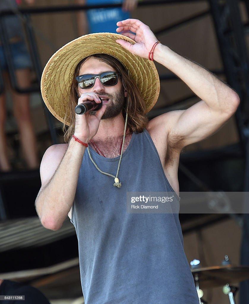 Singer/Songwriter Ryan Hurd performs at Kicker Country Stampede Manhattan, Kansas - Day 3 on June 25, 2016 in Manhattan, Kansas.