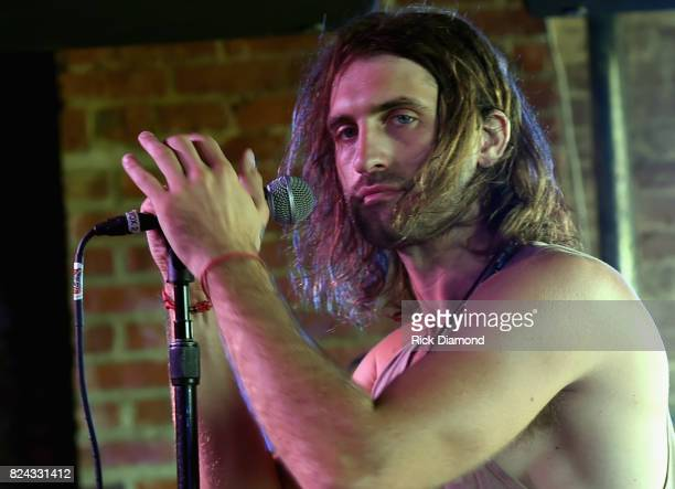 Singer/Songwriter Ryan Hurd performs during Manchester City Host PreGame Party in Nashville at George Jones Museum on July 29 2017 in Nashville...