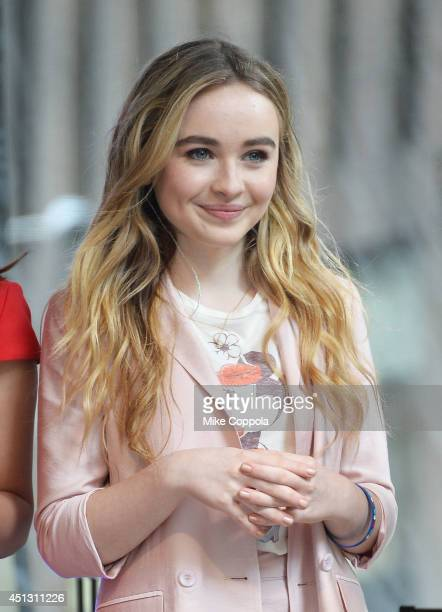 Singer/songwriter Sabrina Carpenter performs during 'FOX Friends' All American Concert Series outside of FOX Studios on June 27 2014 in New York City
