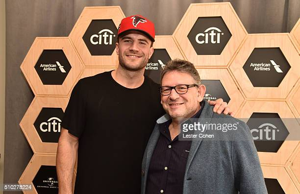 Singersongwriter Sam Hunt and CBE Chairman CEO UMG Lucian Grainge attend Lucian Grainge's 2016 Artist Showcase Presented by American Airlines and...