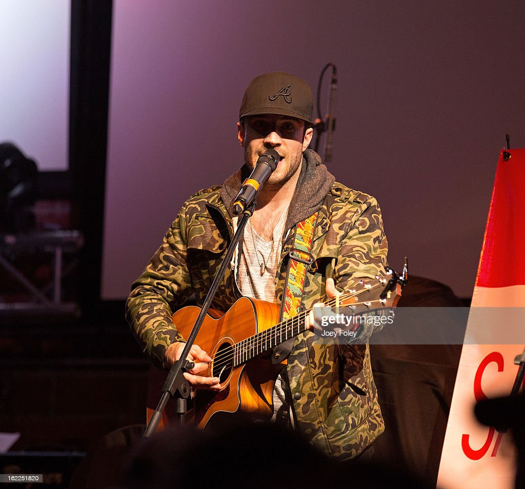 Singer-Songwriter Sam Hunt performs in front of a sold-out crowd at Brick Street Bar on February 20, 2013 in Oxford, Ohio.