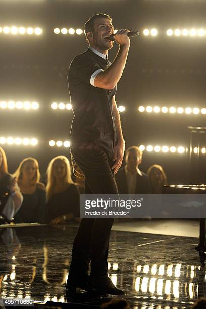 Singersongwriter Sam Hunt performs onstage at the 49th annual CMA Awards at the Bridgestone Arena on November 4 2015 in Nashville Tennessee