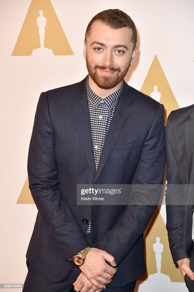 Singersongwriter Sam Smith attends the 88th Annual Academy Awards nominee luncheon on February 8 2016 in Beverly Hills California