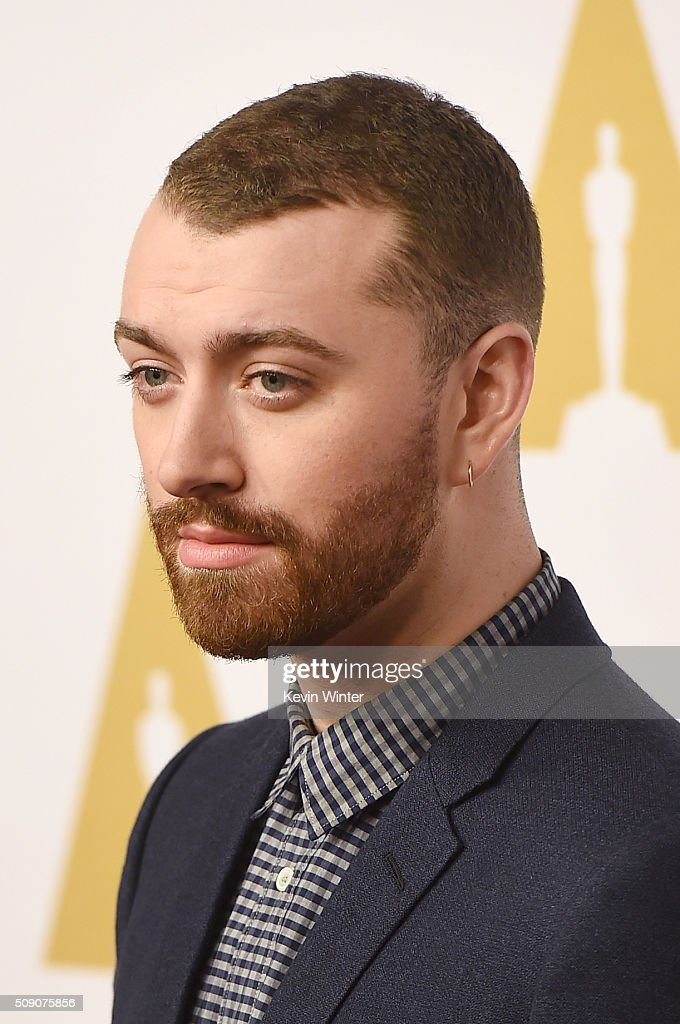Singer-songwriter <a gi-track='captionPersonalityLinkClicked' href=/galleries/search?phrase=Sam+Smith+-+Cantor&family=editorial&specificpeople=12336931 ng-click='$event.stopPropagation()'>Sam Smith</a> attends the 88th Annual Academy Awards nominee luncheon on February 8, 2016 in Beverly Hills, California.