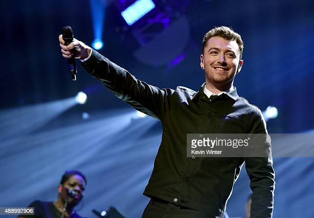 Singer/songwriter Sam Smith performs onstage at the 2015 iHeartRadio Music Festival at MGM Grand Garden Arena on September 18 2015 in Las Vegas Nevada
