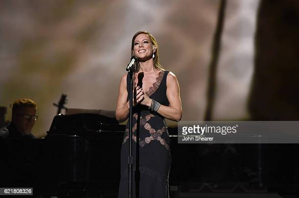 Singersongwriter Sarah McLachlan performs on stage during the CMA 2016 Country Christmas on November 8 2016 in Nashville Tennessee