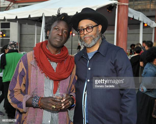 Singersongwriter Saul Williams and artist Arthur Jafa attend MOCA's Leadership Circle and Members' Opening of 'Carl Andre Sculpture as Place...