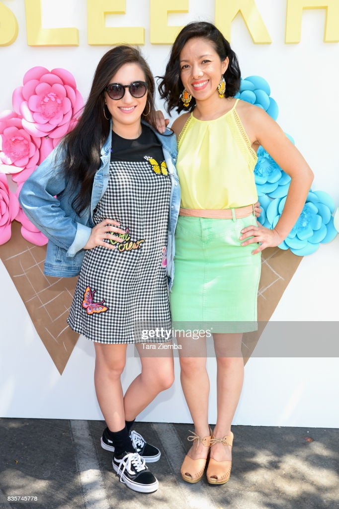 Singer/songwriter Savannah Garza and COO of Sleekhair.com Joan Ngo attend the Sleek Sweet Shop Social on August 19, 2017 in Tustin, California.
