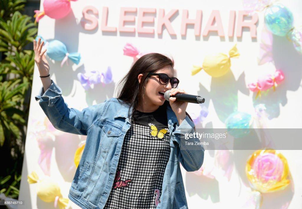 Singer/songwriter Savannah Garza attends the Sleek Sweet Shop Social on August 19, 2017 in Tustin, California.