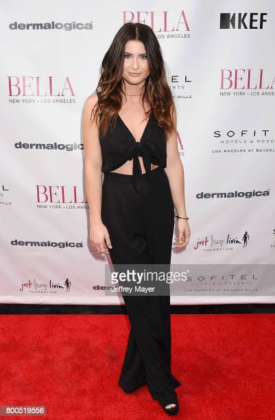 Singersongwriter Savannah Outen attends the BELLA Los Angeles Summer Issue Cover Launch Party at Sofitel Los Angeles At Beverly Hills on June 23 2017...