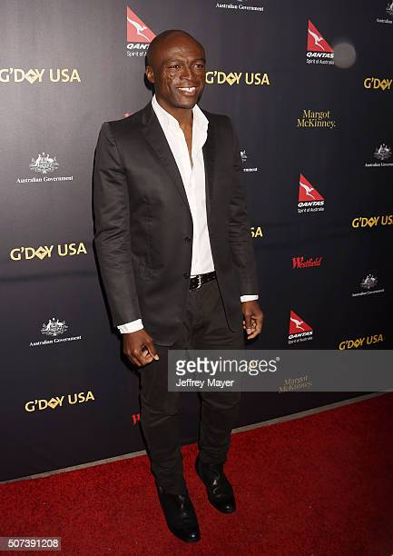 Singer/songwriter Seal arrives at the 2016 G'Day Los Angeles Gala at Vibiana on January 28 2016 in Los Angeles California