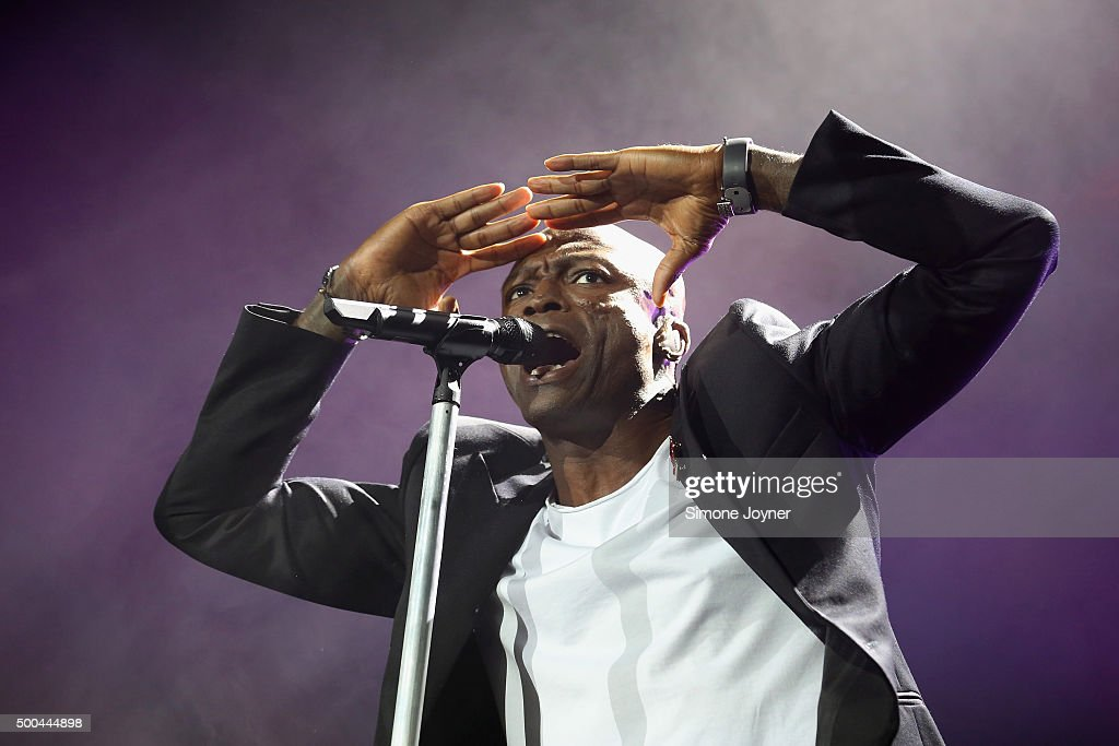 Singer-Songwriter <a gi-track='captionPersonalityLinkClicked' href=/galleries/search?phrase=Seal+-+Singer&family=editorial&specificpeople=202832 ng-click='$event.stopPropagation()'>Seal</a> performs live on stage at The O2 Arena on December 8, 2015 in London, England.