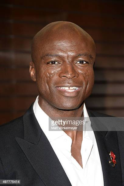 Singer/songwriter Seal poses before signing copies of his album '7' at Barnes Noble at The Grove on November 18 2015 in Los Angeles California