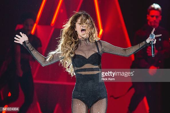 Singersongwriter Selena Gomez performs in concert during her 'Revival Tour' at the Frank Erwin Center on June 17 2016 in Austin Texas