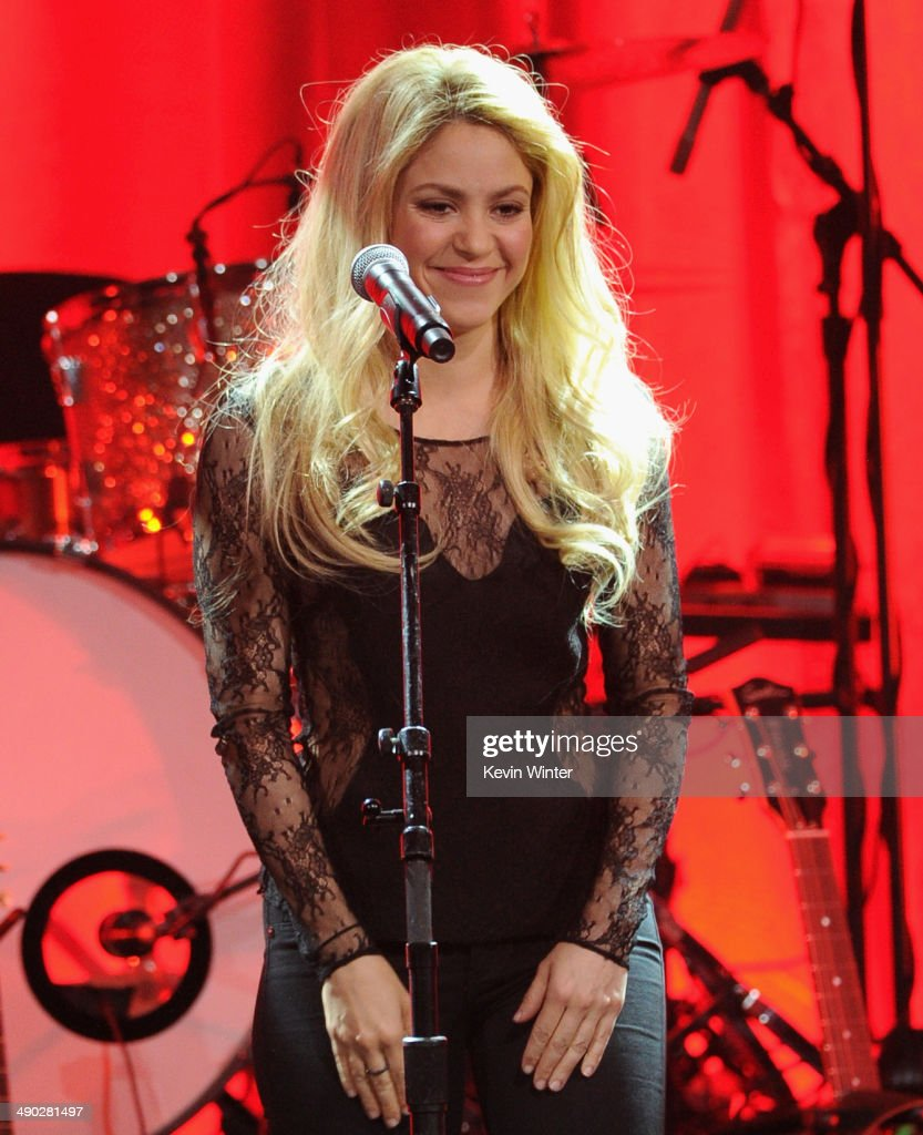 Singer-songwriter <a gi-track='captionPersonalityLinkClicked' href=/galleries/search?phrase=Shakira&family=editorial&specificpeople=160650 ng-click='$event.stopPropagation()'>Shakira</a> performs onstage at the 62nd annual BMI Pop Awards at the Regent Beverly Wilshire Hotel on May 13, 2014 in Beverly Hills, California.