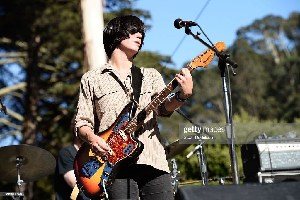 Singer/songwriter Sharon Van Etten performs on stage at the Hardly Strictly Bluegrass festival at Golden Gate Park on October 3 2014 in San Francisco...