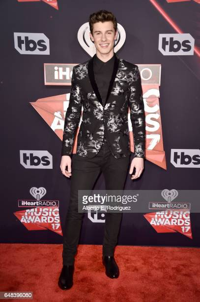 Singersongwriter Shawn Mendes attends the 2017 iHeartRadio Music Awards which broadcast live on Turner's TBS TNT and truTV at The Forum on March 5...