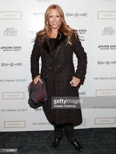 Singer/songwriter Sheryl Crow attends The Cinema Society Nancy Gonzalez screening of 'Meek's Cutoff' at Landmark Sunshine Cinema on March 28 2011 in...