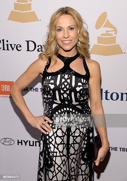 Singersongwriter Sheryl Crow attends the PreGRAMMY Gala and Salute to Industry Icons honoring Martin Bandier at The Beverly Hilton Hotel on February...