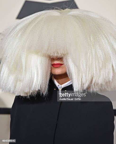 Singer/songwriter Sia arrives at the 57th Annual GRAMMY Awards at Staples Center on February 8 2015 in Los Angeles California