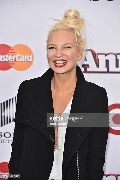 Singersongwriter Sia attends the 'Annie' World Premiere at Ziegfeld Theater on December 7 2014 in New York City
