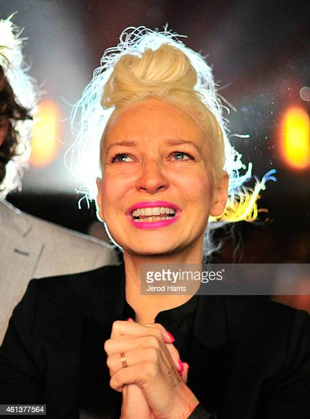 Singer/songwriter Sia attends the 'Transparent' Cast and Crew Golden Globes Viewing Party at The London West Hollywood on January 11 2015 in West...
