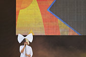Singer/songwriter Sia performs on ABC's 'Good Morning America' at SummerStage at Rumsey Playfield Central Park on July 22 2016 in New York City