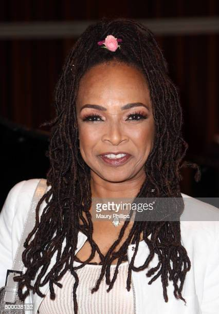 Singer/songwriter Siedah Garrett attends the National Museum of African America Music presented by Los Angeles Salon at Henson Recording Studio on...