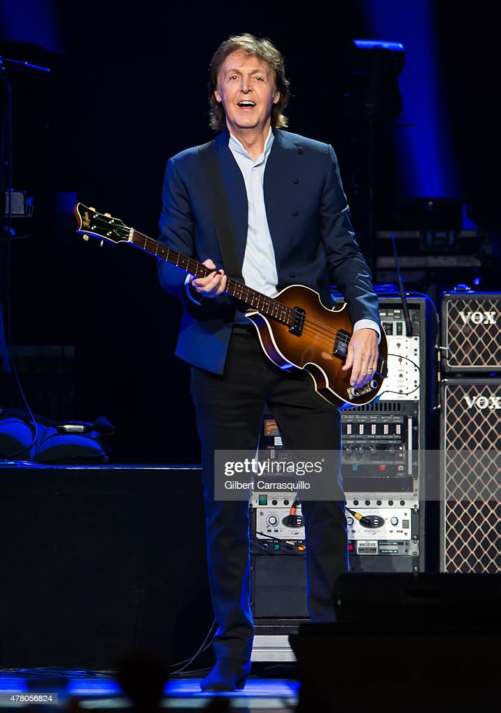 Singer-songwriter Sir <a gi-track='captionPersonalityLinkClicked' href=/galleries/search?phrase=Paul+McCartney&family=editorial&specificpeople=92298 ng-click='$event.stopPropagation()'>Paul McCartney</a> performs during U.S. 'Out There' tour at Wells Fargo Center on June 21, 2015 in Philadelphia, Pennsylvania.