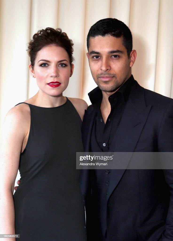 Singer/songwriter Skylar Grey (L) and actor Wilmer Valderrama attend Grey Goose at 21st Annual Elton John AIDS Foundation Academy Awards Viewing Party at West Hollywood Park on February 24, 2013 in West Hollywood, California.