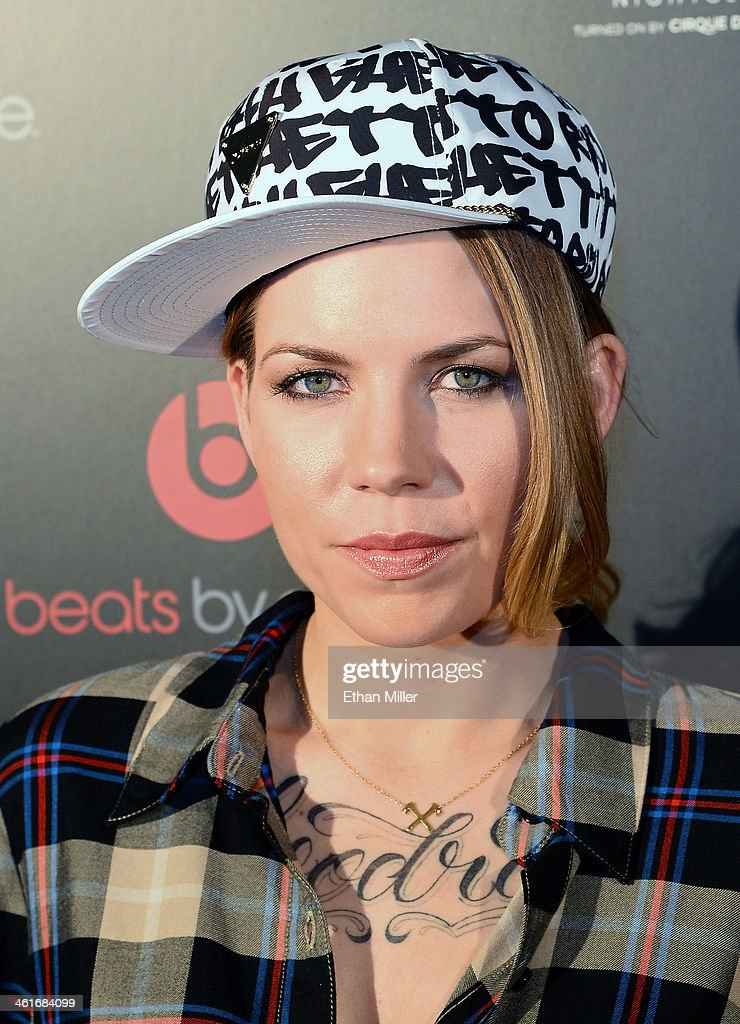 Singer/songwriter <a gi-track='captionPersonalityLinkClicked' href=/galleries/search?phrase=Skylar+Grey&family=editorial&specificpeople=4349722 ng-click='$event.stopPropagation()'>Skylar Grey</a> arrives at a Beats by Dr. Dre CES after party at the Light Nightclub at the Mandalay Bay Resort and Casino on January 9, 2014 in Las Vegas, Nevada.