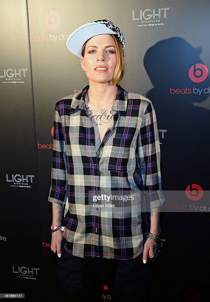 Singer/songwriter Skylar Grey arrives at a Beats by Dr. Dre CES after party at the Light Nightclub at the Mandalay Bay Resort and Casino on January 9, 2014 in Las Vegas, Nevada.