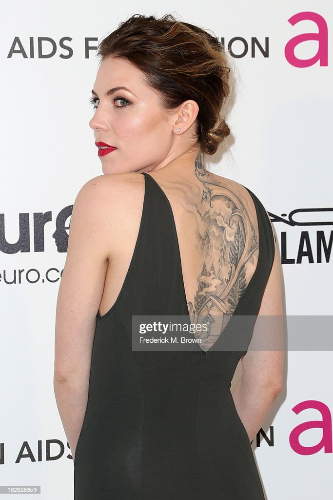 Singer/songwriter Skylar Grey arrives at the 21st Annual Elton John AIDS Foundation's Oscar Viewing Party on February 24, 2013 in Los Angeles, California.