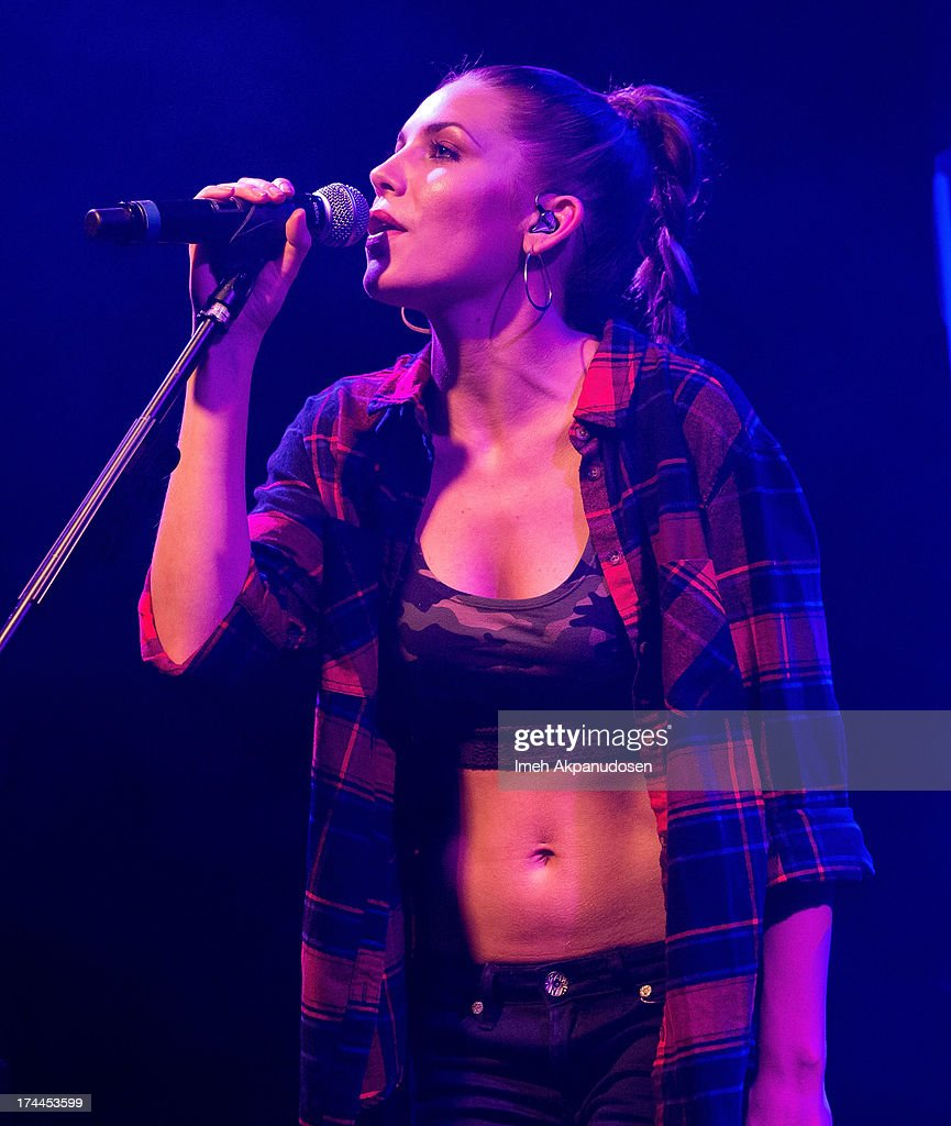 Singer/songwriter <a gi-track='captionPersonalityLinkClicked' href=/galleries/search?phrase=Skylar+Grey+-+Singer&family=editorial&specificpeople=4349722 ng-click='$event.stopPropagation()'>Skylar Grey</a> performs onstage at Bootleg Theater on July 25, 2013 in Los Angeles, California.