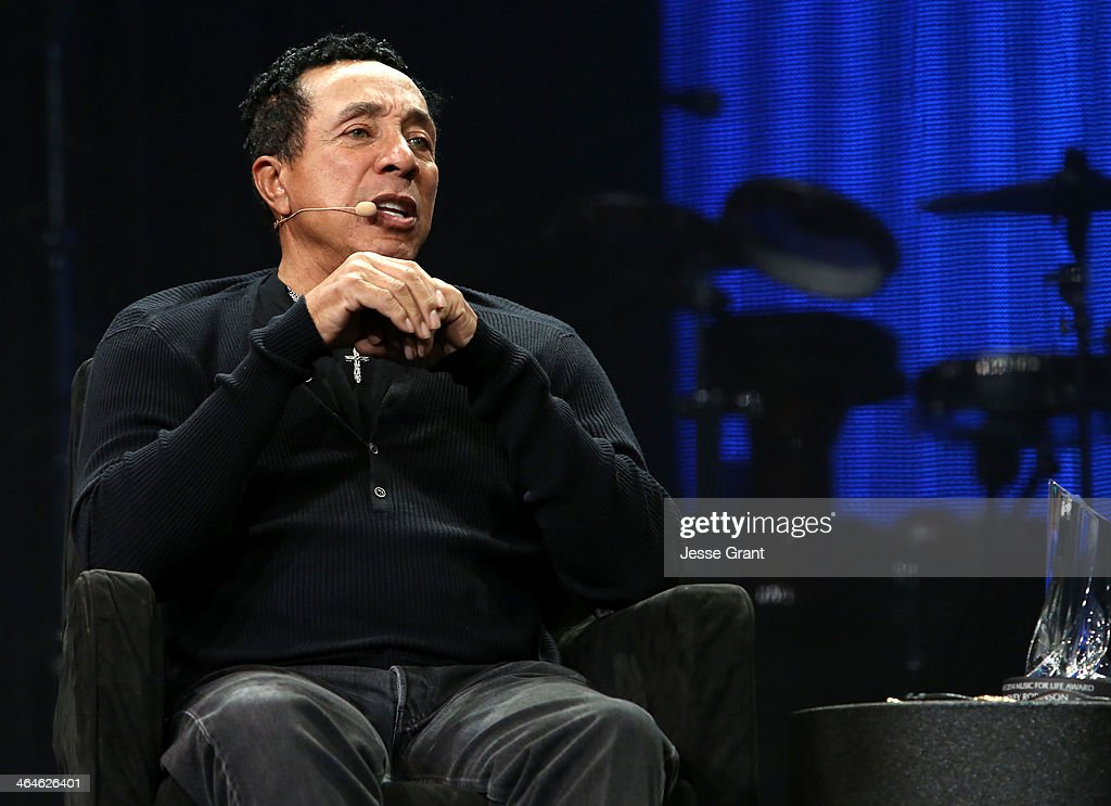 Singer/Songwriter Smokey Robinson attends day one of the 2014 National Association of Music Merchants show at the Anaheim Convention Center on January 23, 2014 in Anaheim, California.