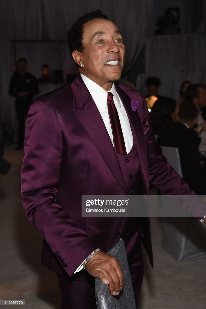 Singer-songwriter Smokey Robinson attends the 25th Annual Elton John AIDS Foundation's Academy Awards Viewing Party at The City of West Hollywood Park on February 26, 2017 in West Hollywood, California.